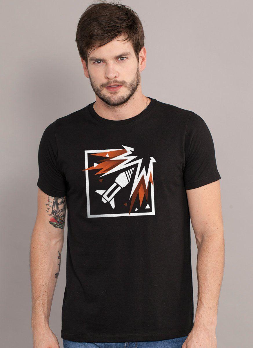 Camiseta Masculina Rainbow Six Ash Logo