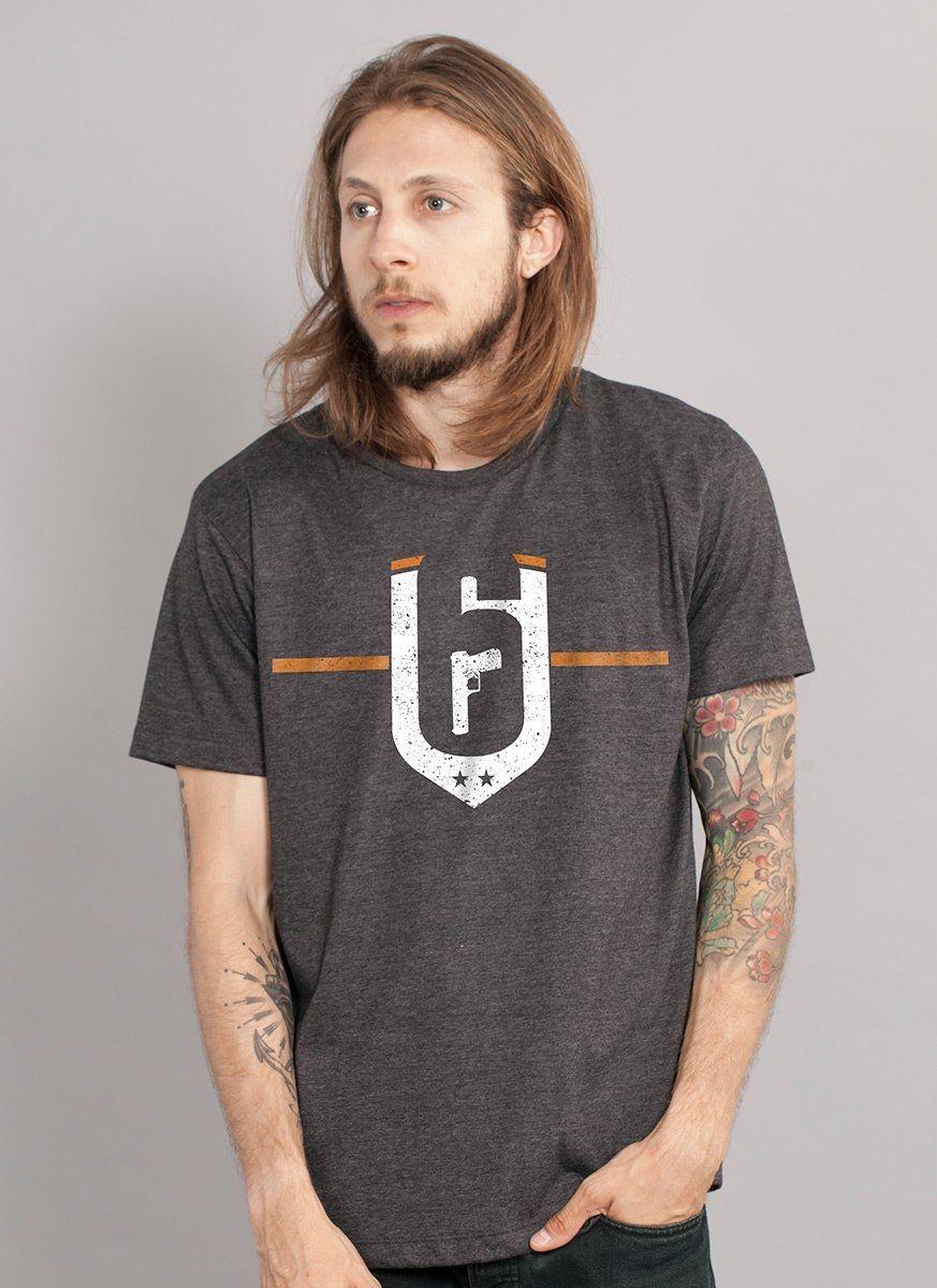 Camiseta Masculina Rainbow Six Siege Brasão Dust Line