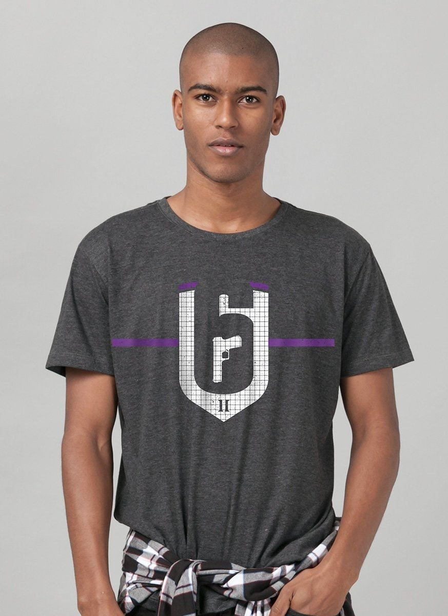 Camiseta Masculina Rainbow Six Siege Brasão Velvet Shell