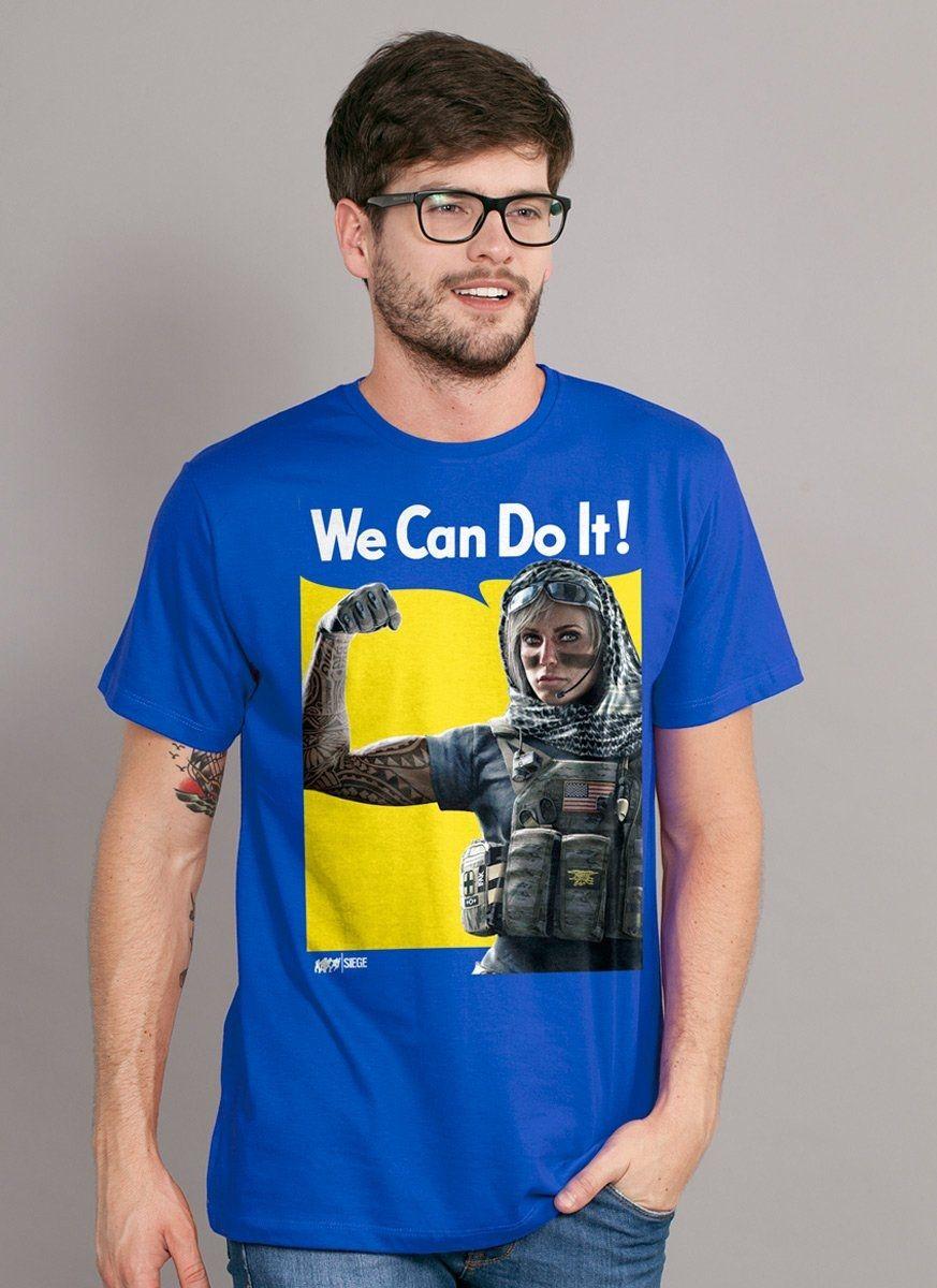 NÃO LIBERAR Camiseta Masculina Rainbow Six Siege We Can Do It!
