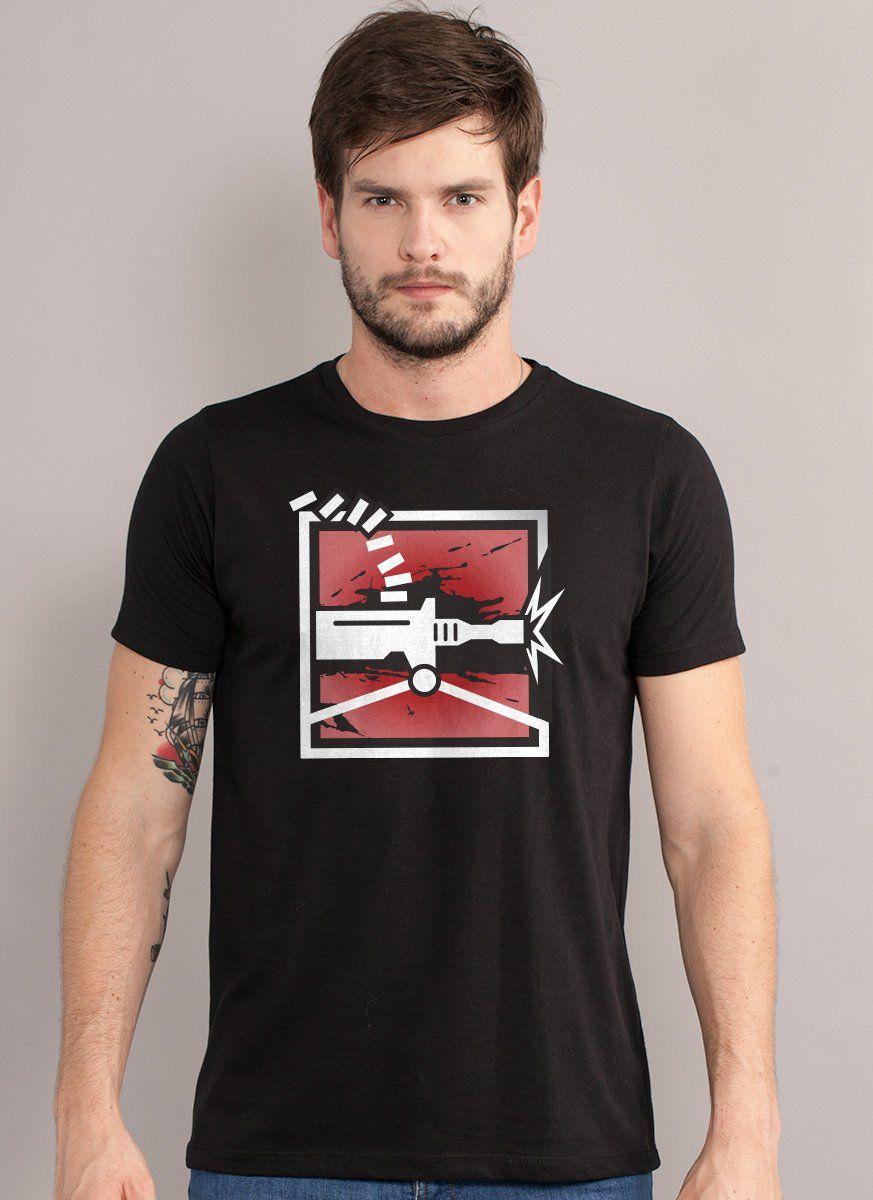 Camiseta Masculina Rainbow Six Tachanka Logo