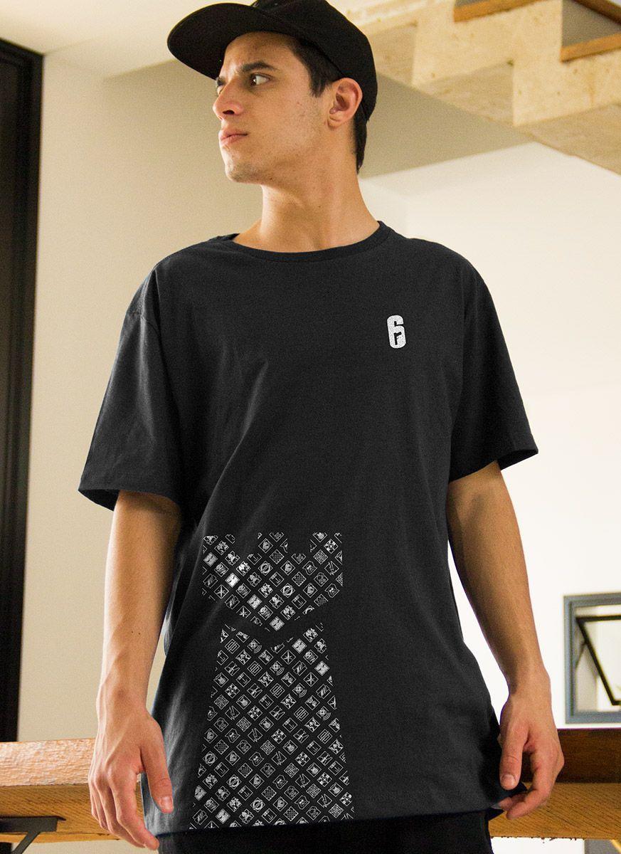 Camiseta Masculina Rainbow Six Defesa