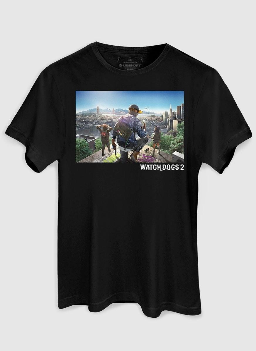 Camiseta Masculina Watch Dogs 2 Capa