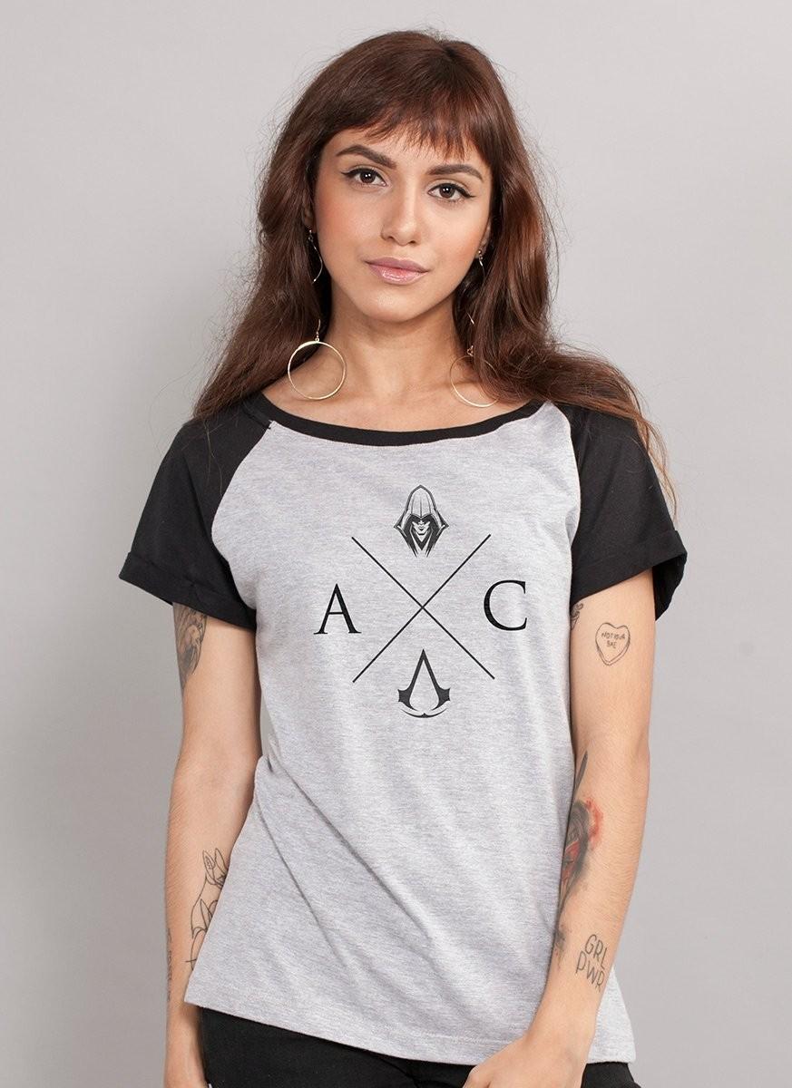 Camiseta Raglan Feminina Assassin´s Creed AC