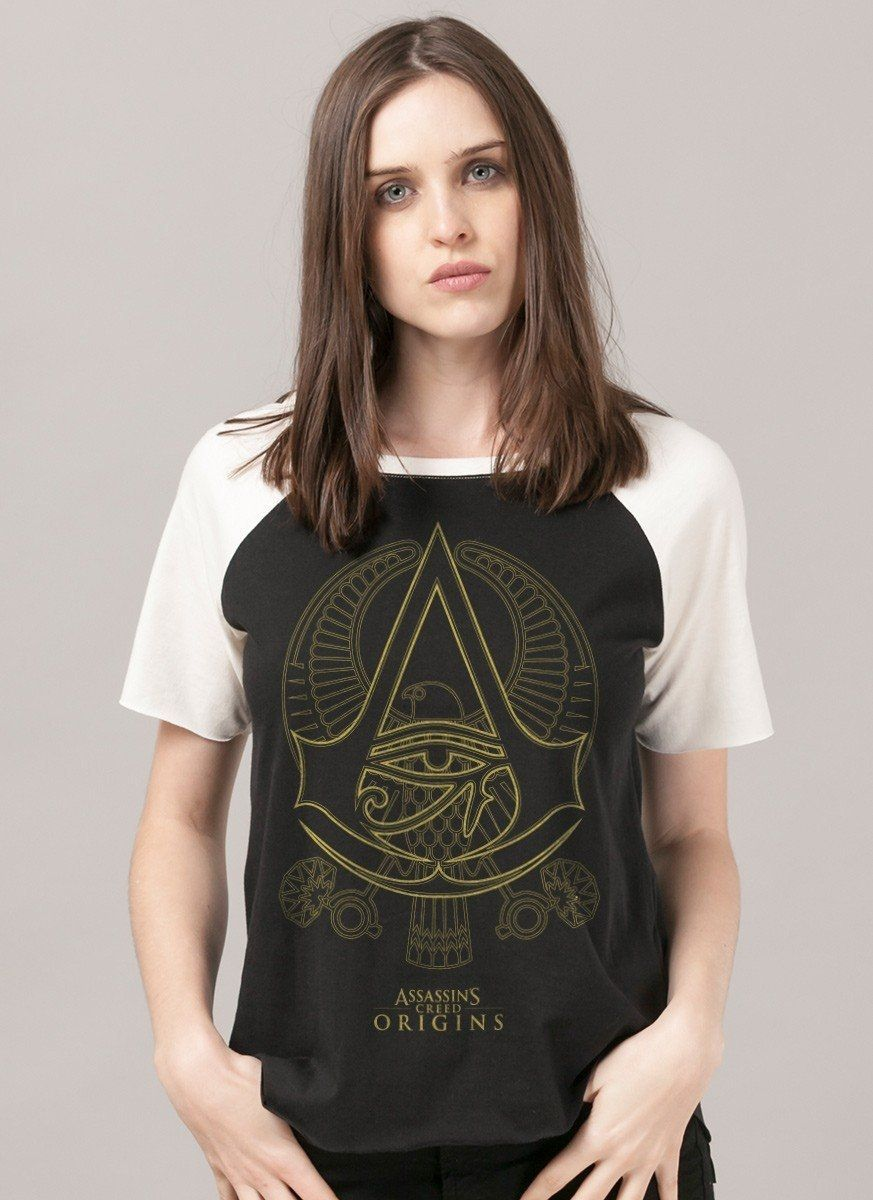 Camiseta Raglan Feminina Assassin's Creed Origins