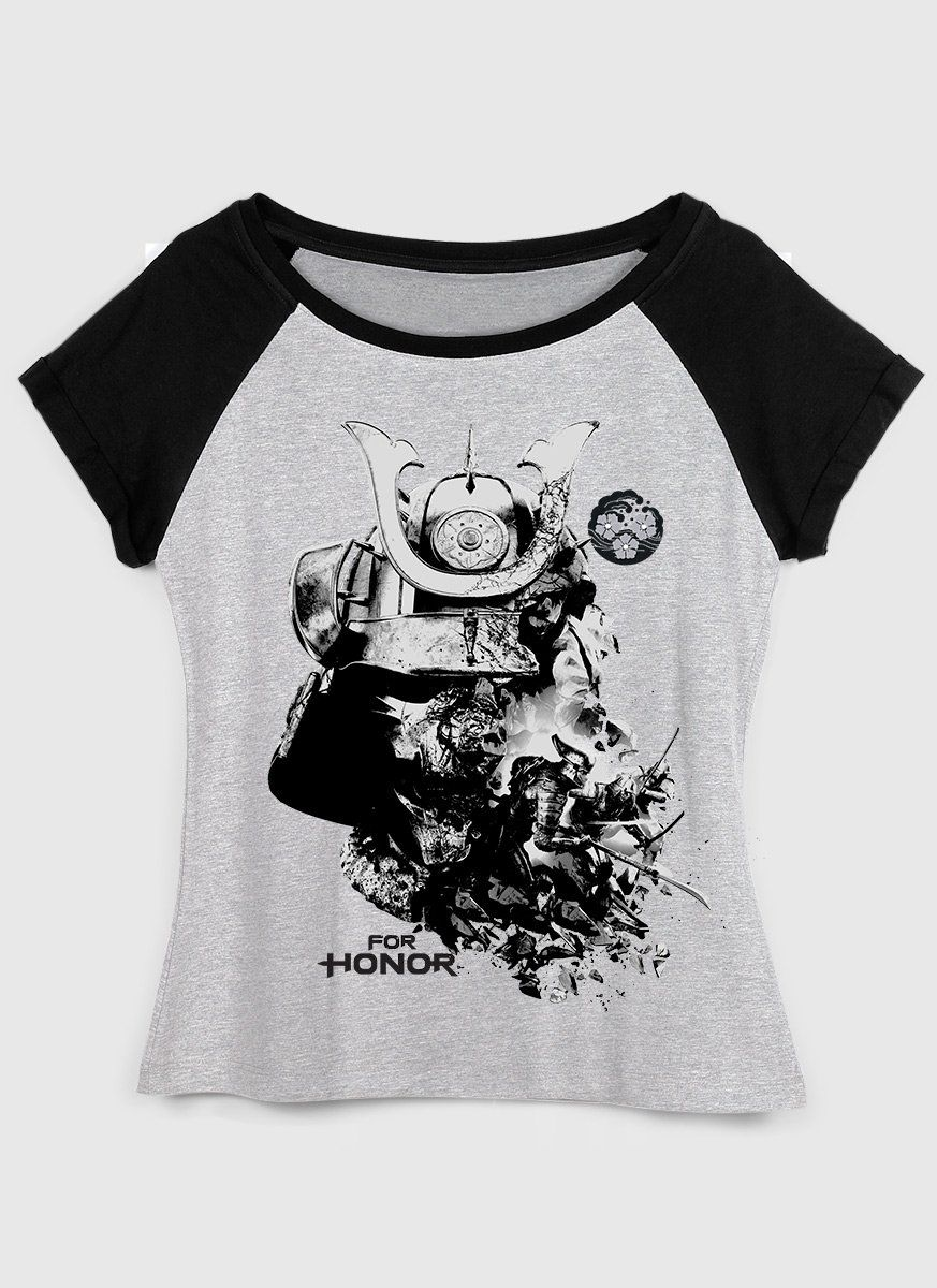 Camiseta Raglan Feminina For Honor Samurais
