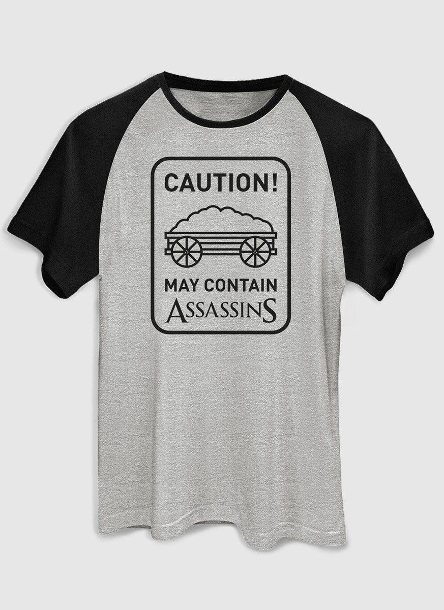 Camiseta Raglan Masculina Assassin's Creed Caution!