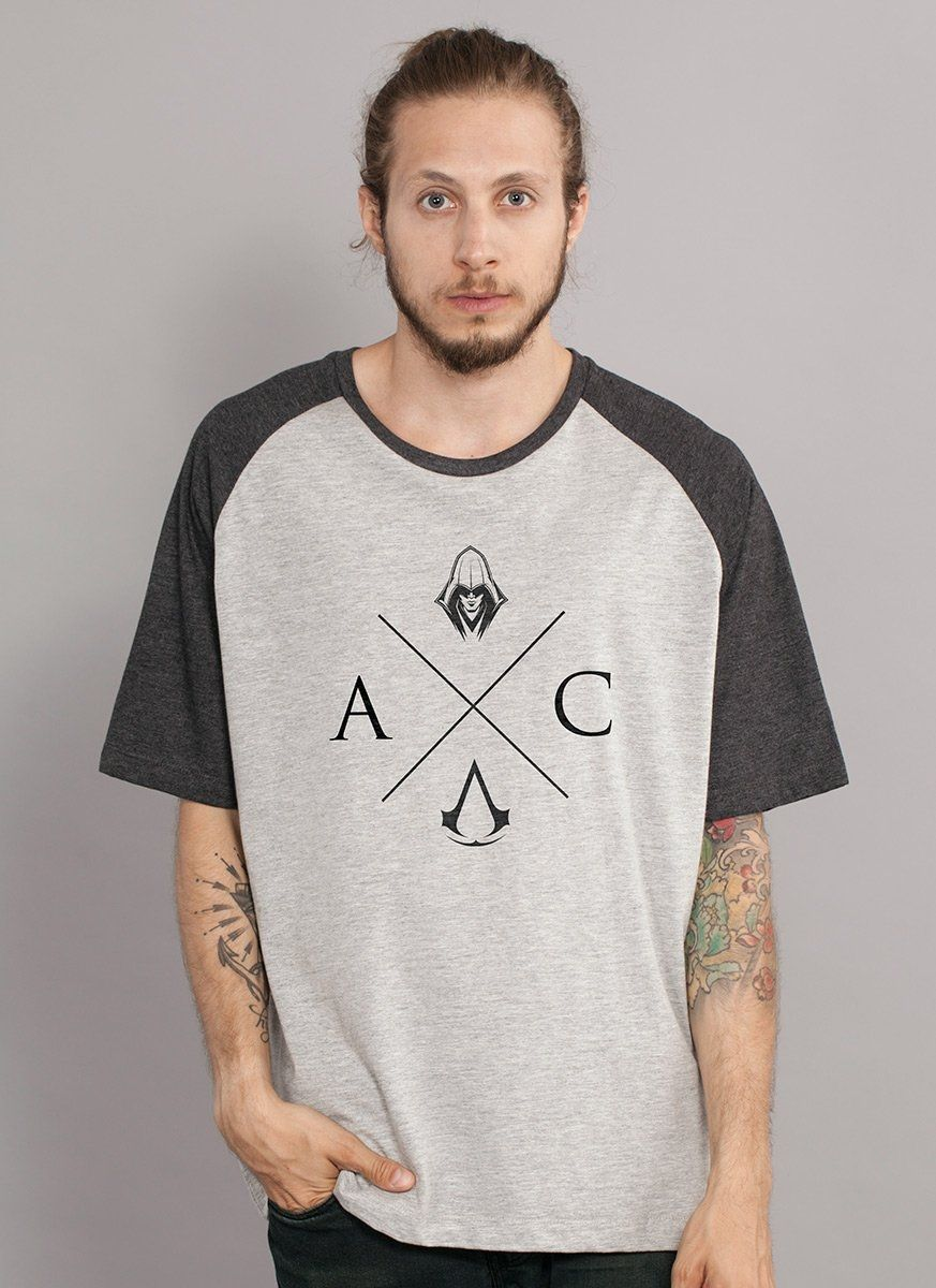 Camiseta Raglan Masculina Assassin's Creed AC