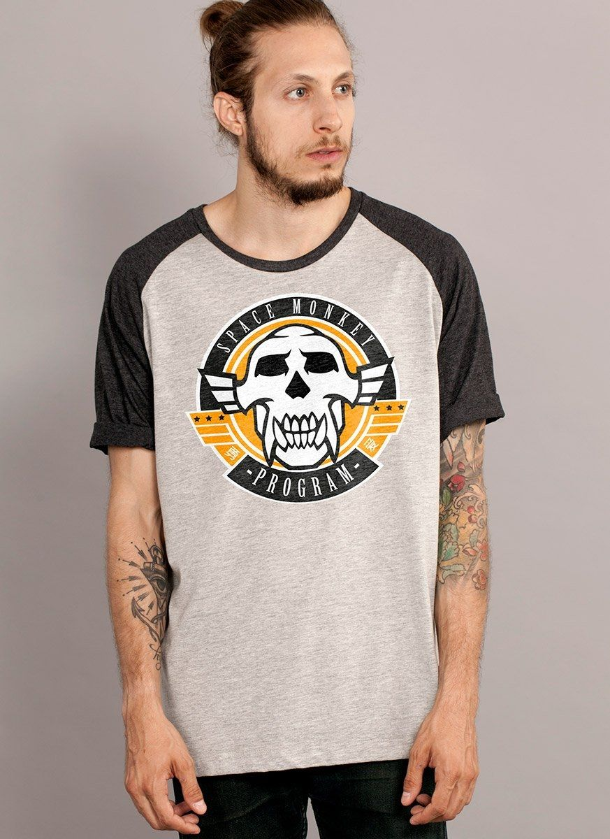 Camiseta Raglan Masculina Beyond Good and Evil 2 Space Monkey