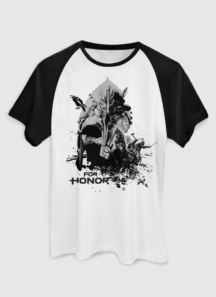 Camiseta Raglan Masculina For Honor Vikings