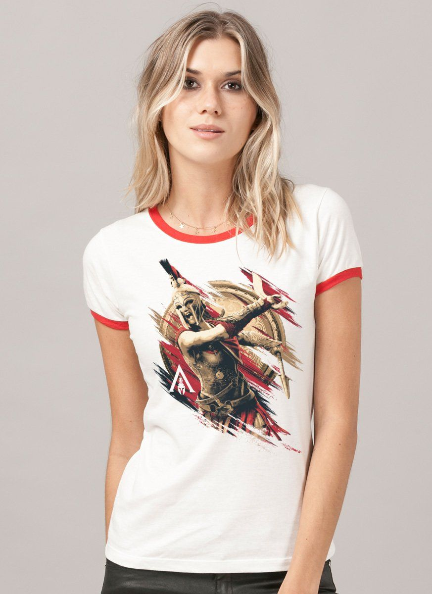 Camiseta Ringer Feminina Assassin's Creed Odyssey Kassandra