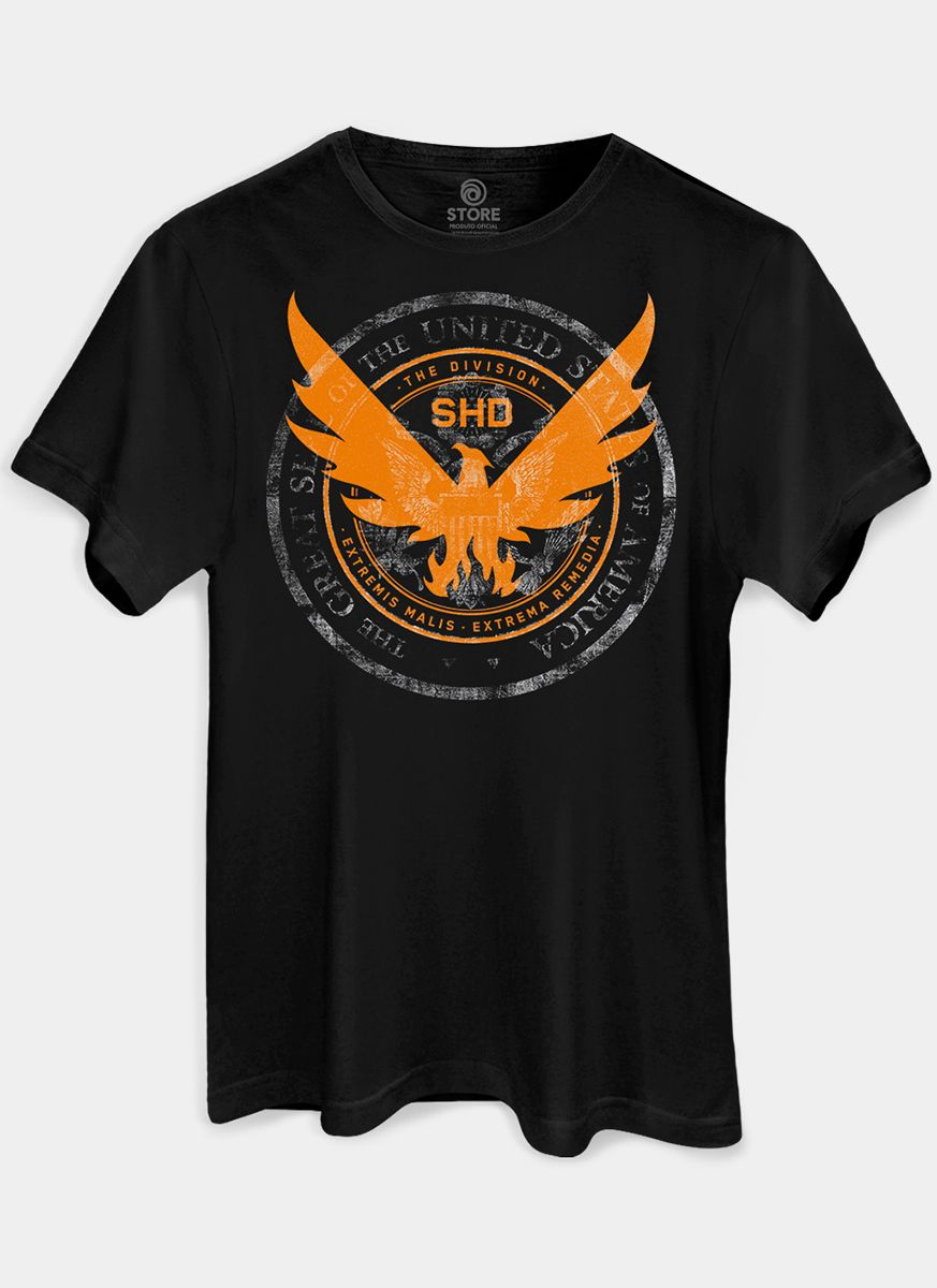Camiseta Masculina Tom Clancy's The Division 2 Phoenix Black