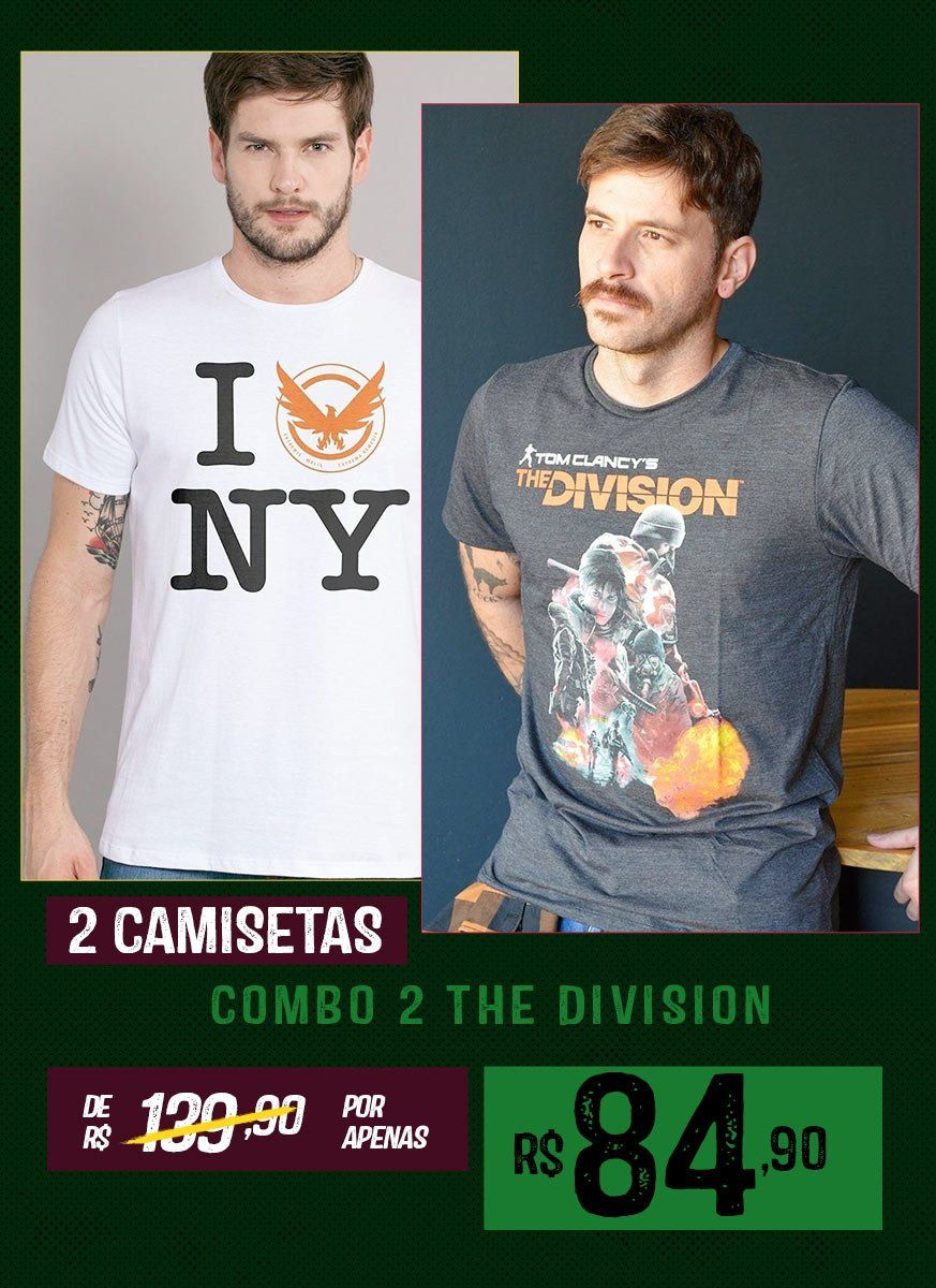 Combo 2 Camisetas Tom Clancy's The Division