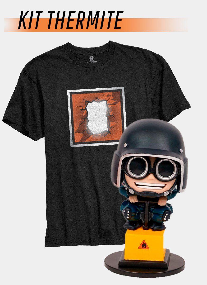 Pré-Venda Kit Camiseta + Chibi Thermite