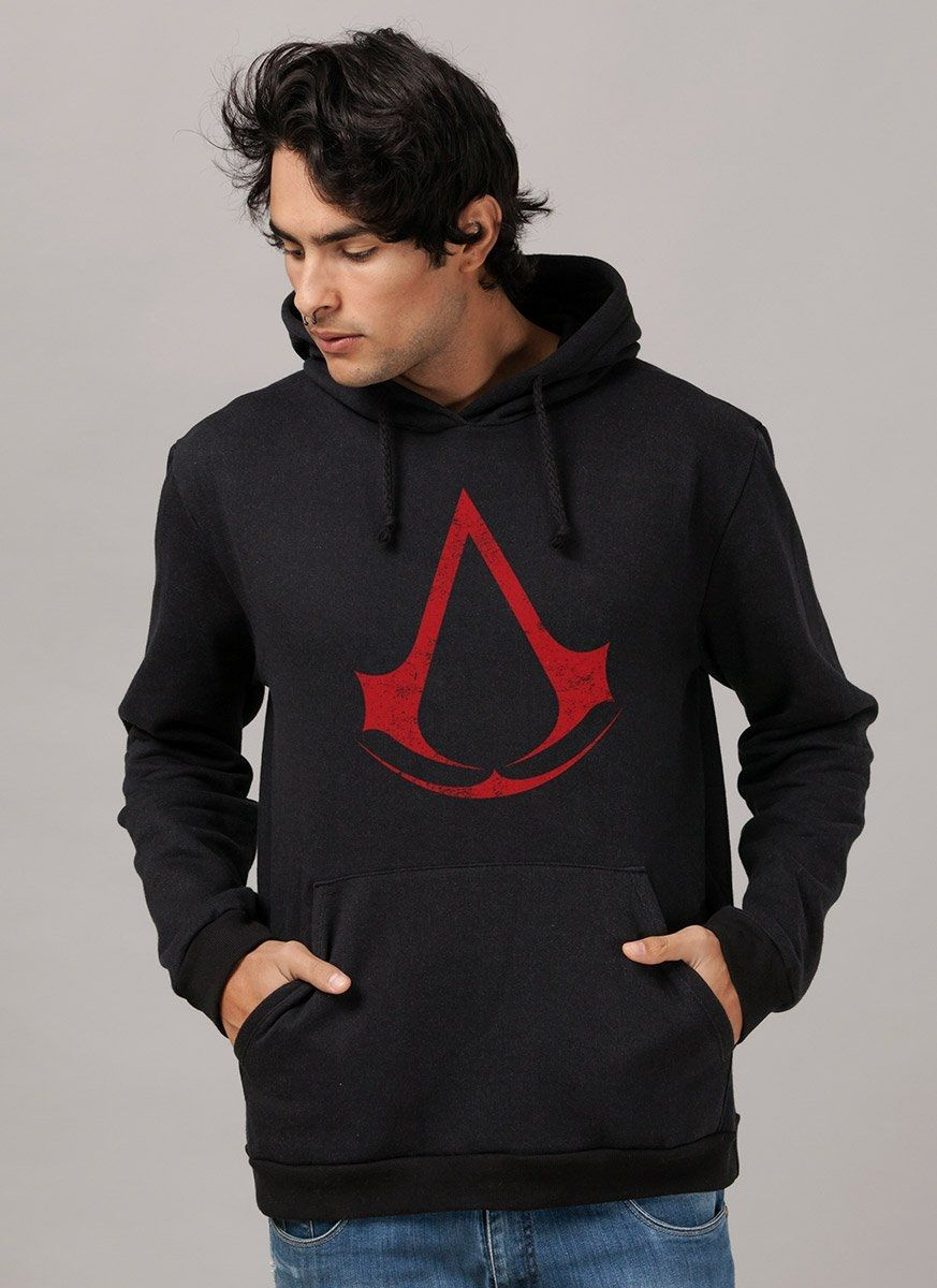Moletom Preto Assassin´s Creed Logo