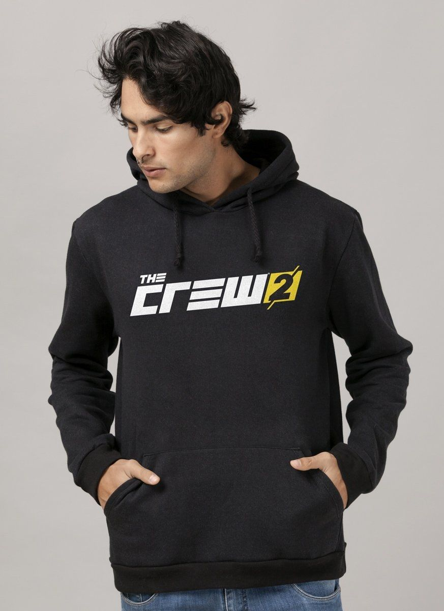Moletom Preto The Crew 2 Logo Negative