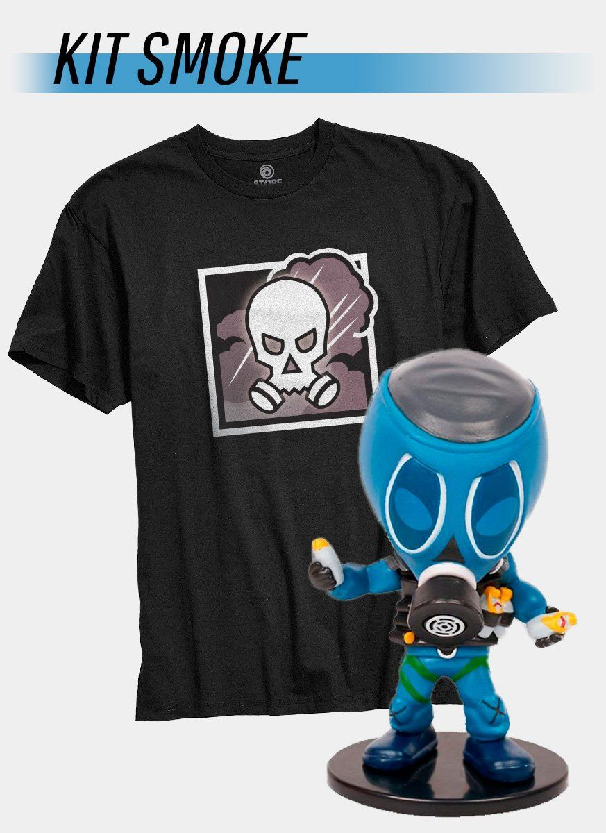 Pré-Venda Kit Camiseta + Chibi Smoke