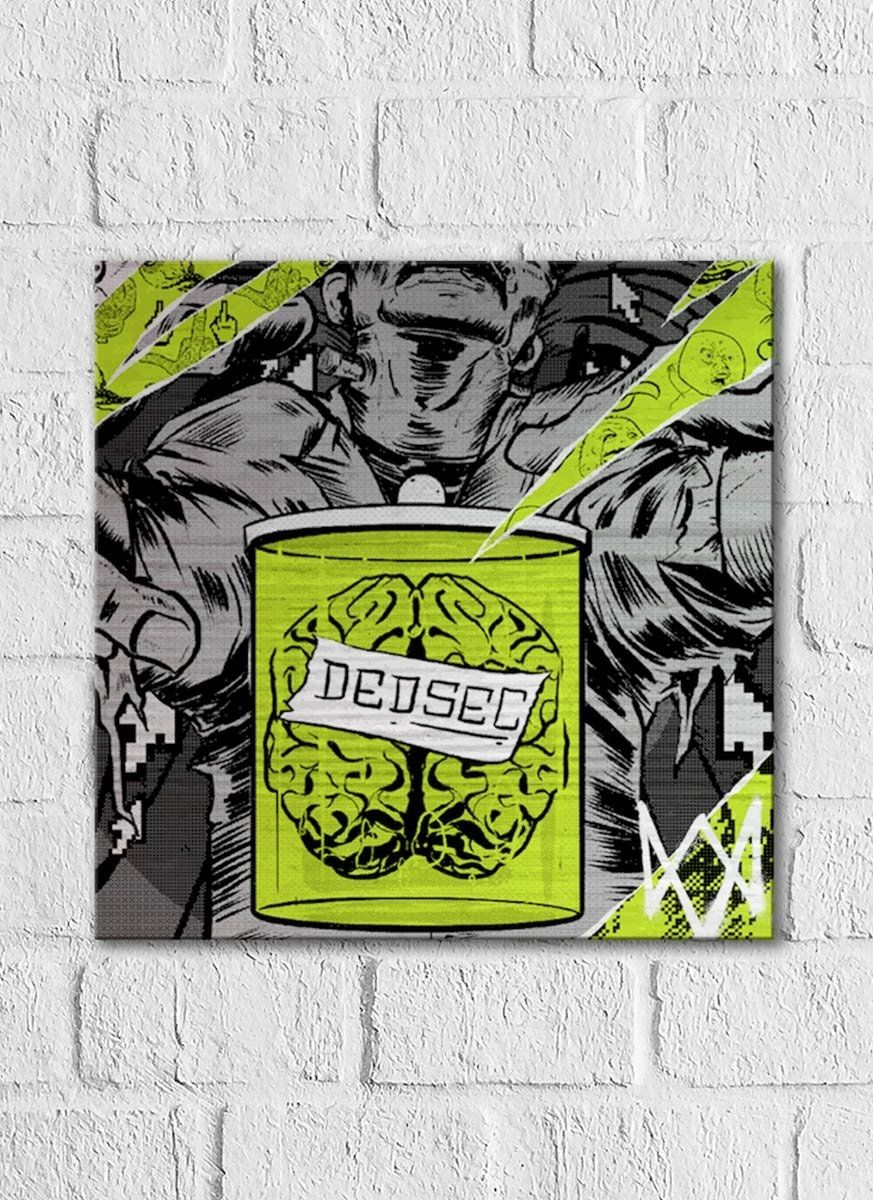 Quadro Decorativo Watch Dogs Verde