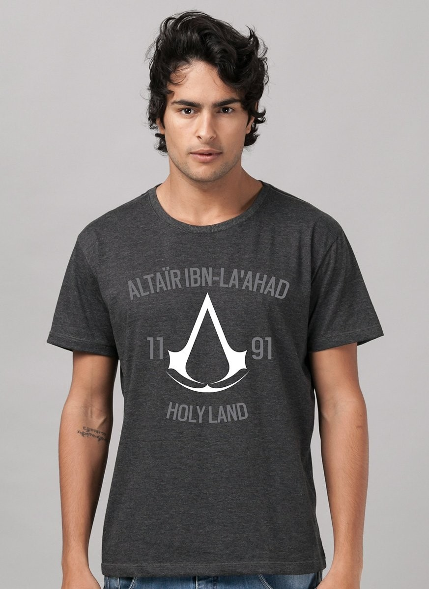 T-shirt Premium Masculina Assassin's Creed Crest Altair