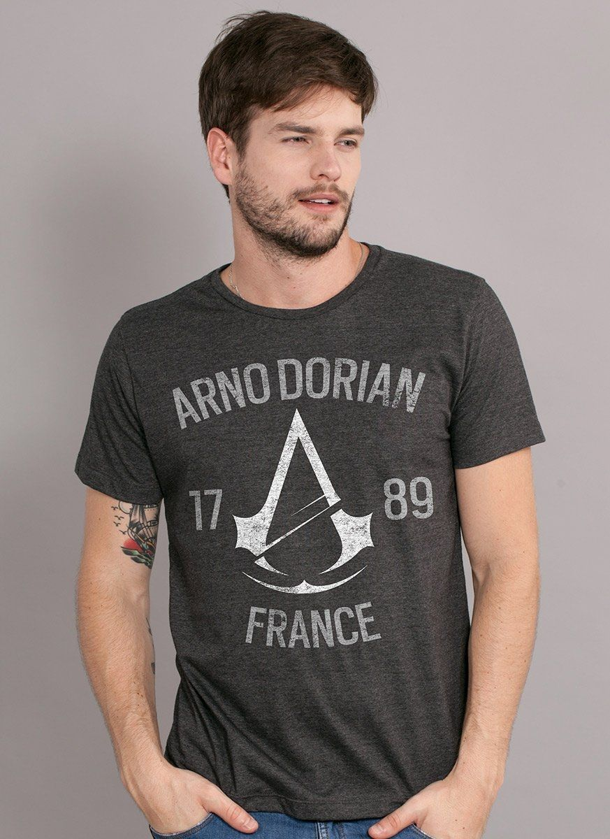 T-shirt Premium Masculina Assassin's Creed Crest Arno