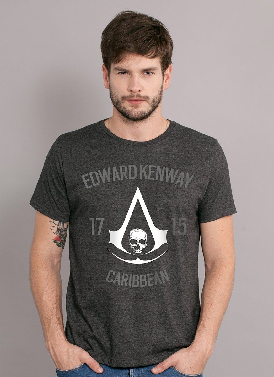 T-shirt Premium Masculina Assassin's Creed Crest Edward
