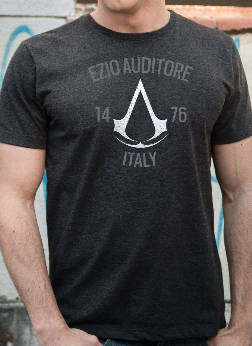 T-shirt Premium Masculina Assassin's Creed Crest Ezio