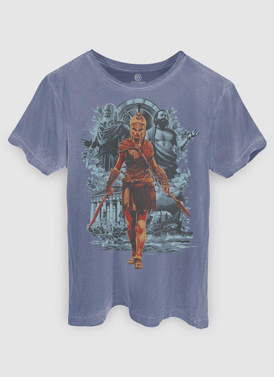 T-shirt Premium Masculina Assassin's Creed Odyssey Kassandra Warrior