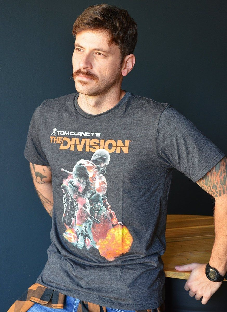 T-shirt Premium Masculina The Division Characters