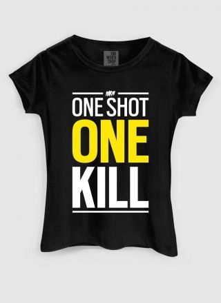 Camiseta Feminina Rainbow Six One Shot One Kill
