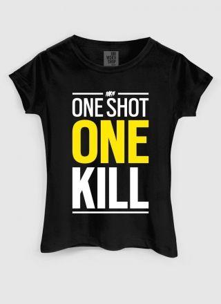 Camiseta Feminina Rainbow Six One Shot One Kill