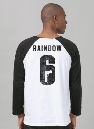 Camiseta Manga Longa Masculina Rainbow Six Siege