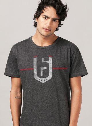 6cdbdbe47a Camiseta Masculina Rainbow Six Siege Brasão Red Crow