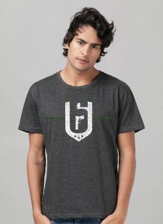 Camiseta Masculina Rainbow Six Siege Brasão Skull Rain