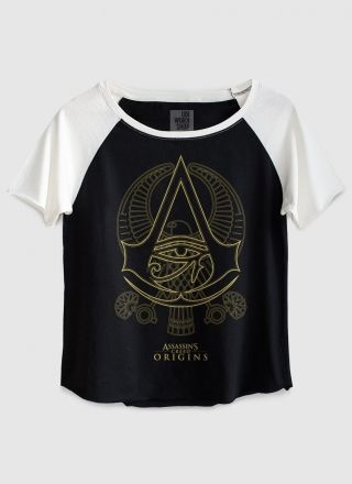 Camiseta Raglan Feminina Assassin's Creed Origins