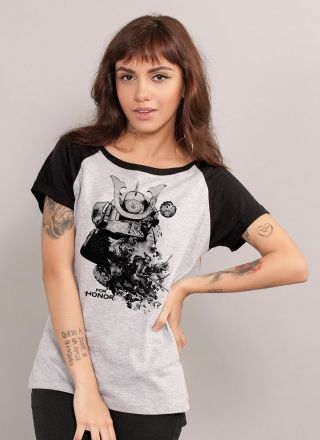 Camiseta Raglan Feminina For Honor Samurais