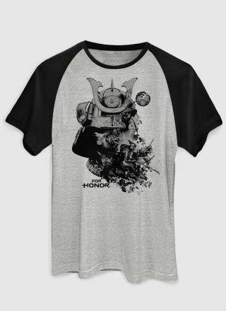 Camiseta Raglan Masculina For Honor Samurais Faction