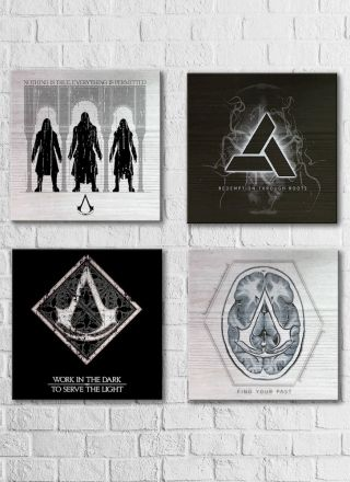 Quadro Decorativo Assassin's Creed Filme Crest