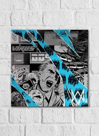 Quadro Decorativo Watch Dogs Azul