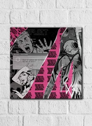 Quadro Decorativo Watch Dogs Rosa