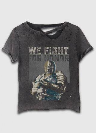 T-shirt Destroyed Feminina We Fight for Honor