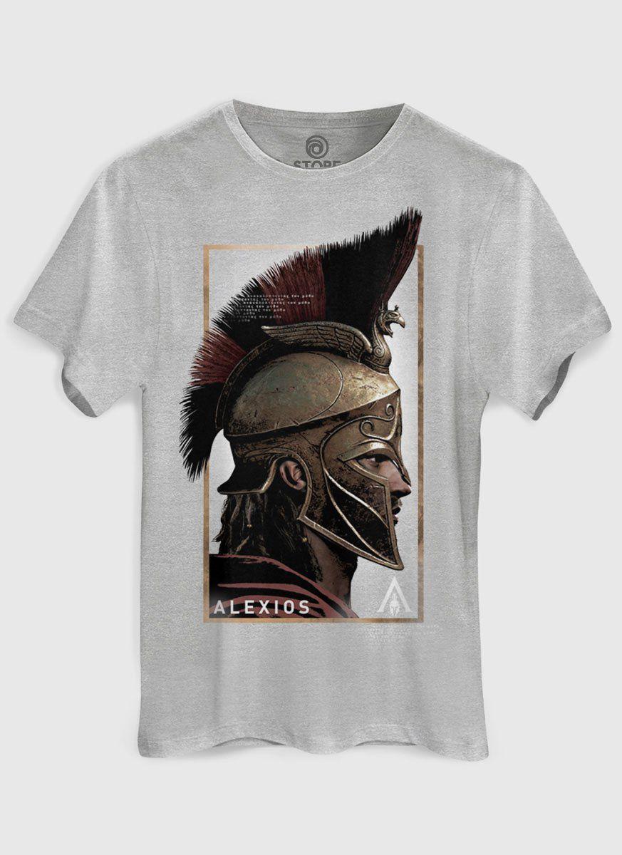 43a8514d85 Camiseta Masculina Assassin s Creed Odyssey Alexios Face