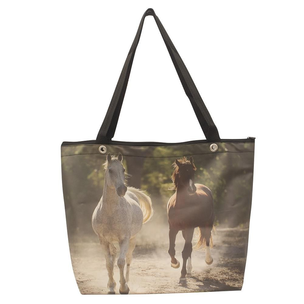 Eco BAG ZIP Sacola ZIP 2 Cavalos