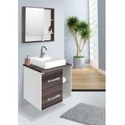 Conjunto Para Banheiro Blocc 60Cm Branco/Amendoa Fabriban