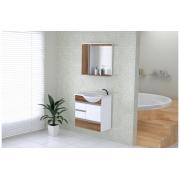 Conjunto Para Banheiro Florence 59,5cm Nogal Sevilha AJ Rorato