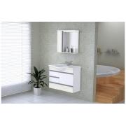 Conjunto Para Banheiro Florence 79,5cm Palissandro Ártico AJ Rorato