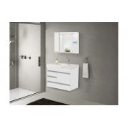 Conjunto Para Banheiro Nápole 79,5x42cm Branco AJ Rorato