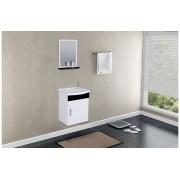 Conjunto Para Banheiro Siena 39cm Preto/Branco Aj Rorato