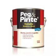 Esmalte Brilhante Cinza Escuro Galão 3,6 Litros Peg Pinte