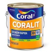 Esmalte Coralit secagem Rápida Brilhante Branco 3,6 Litros Coral