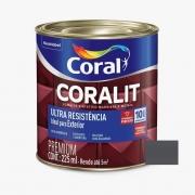 Esmalte Coralit Ultra Resistência Alto Brilho Cinza Escuro 3,6 Litros Coral
